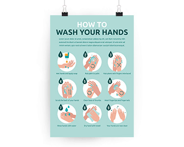 Posters-wash hands